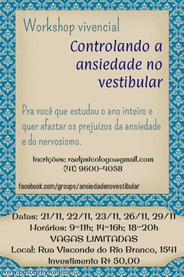 workshop controlando a ansiedade no vestibular